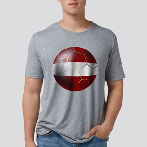 Latvian Football Mens Tri-blend T-Shirt