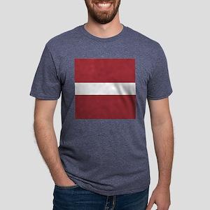 Flag of Latvia Mens Tri-blend T-Shirt