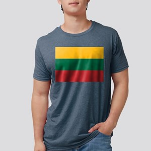Flag of Lithuania Mens Tri-blend T-Shirt