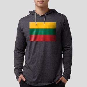 Flag of Lithuania Mens Hooded Shirt