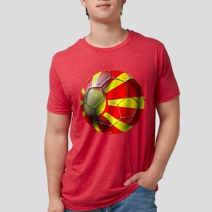 Macedonia Football Mens Tri-blend T-Shirt
