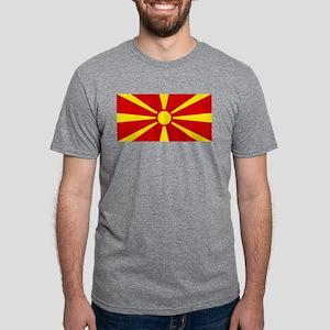 Flag of Macedonia Mens Tri-blend T-Shirt