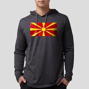Flag of Macedonia Mens Hooded Shirt