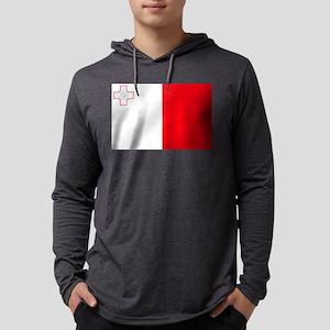 Flag of Malta Mens Hooded Shirt