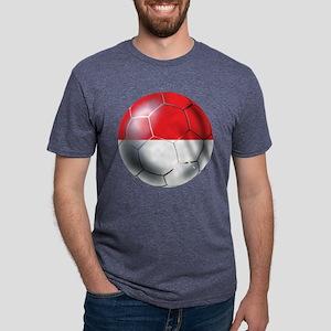 Monaco Soccer Ball Mens Tri-blend T-Shirt