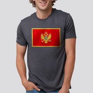 Flag of Montenegro Mens Tri-blend T-Shirt