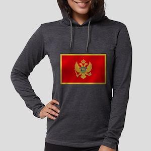 Flag of Montenegro Womens Hooded Shirt