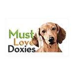 Must Love Doxies 35x21 Wall Decal