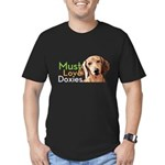 Must Love Doxies Men's Fitted T-Shirt (dark)