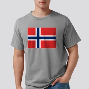 Flag of Norway Mens Comfort Colors Shirt
