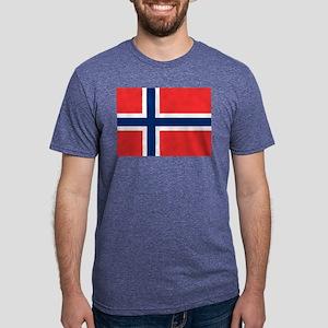 Flag of Norway Mens Tri-blend T-Shirt