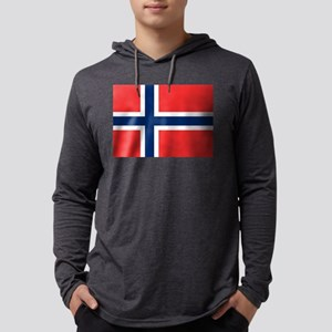 Flag of Norway Mens Hooded Shirt