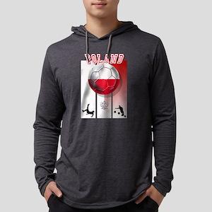 Poland Football Soccer Mens Hooded Shirt