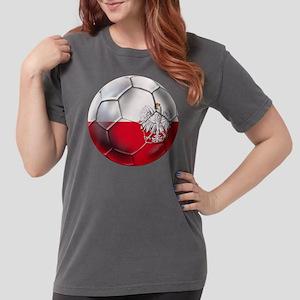 Poland Football Womens Comfort Colors Shirt