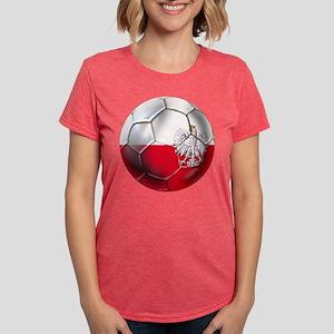 Poland Football Womens Tri-blend T-Shirt