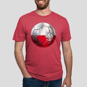 Poland Football Mens Tri-blend T-Shirt