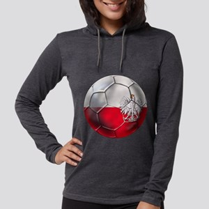 Poland Football Womens Hooded Shirt