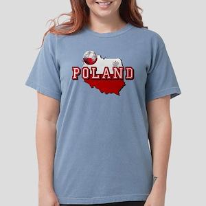 Polish Flag Map Womens Comfort Colors® Shirt