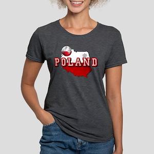 Polish Flag Map Womens Tri-blend T-Shirt