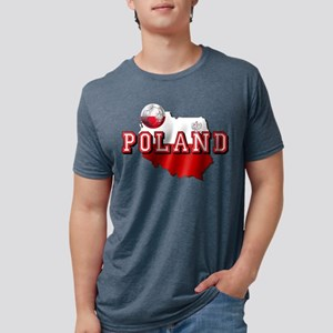 Polish Flag Map Mens Tri-blend T-Shirt