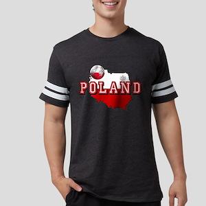 Polish Flag Map Mens Football Shirt