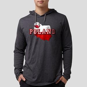 Polish Flag Map Mens Hooded Shirt