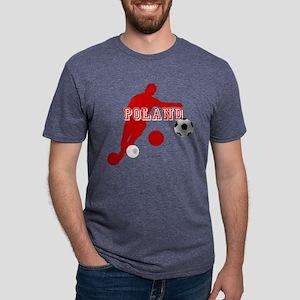 Polish Soccer Player Mens Tri-blend T-Shirt