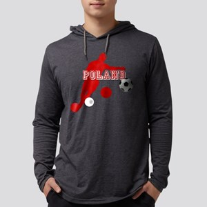 Polish Soccer Player Mens Hooded Shirt
