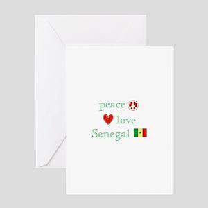 Dakar senegal stationery cafepress peace love and senegal greeting card m4hsunfo