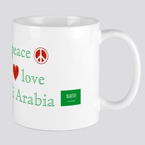 Peace Love & Saudi Arabia Mug