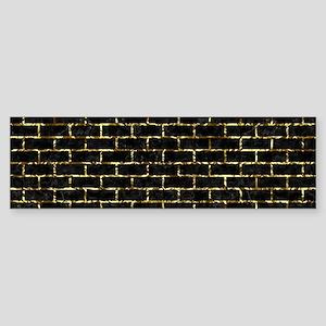 BRICK1 BLACK MARBLE & GOLD FOIL Sticker (Bumper)