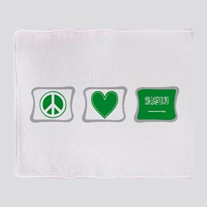 Peace Love & Saudi Arabia Throw Blanket