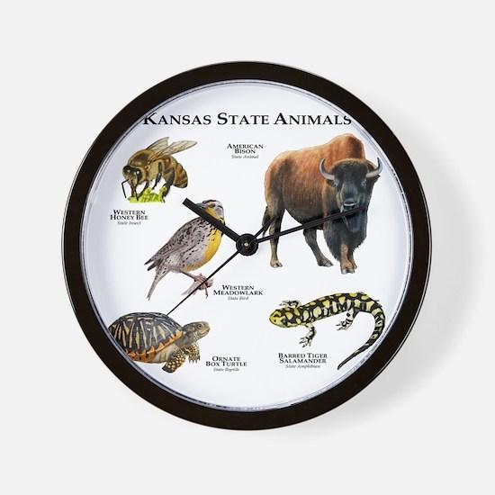 Kansas State Animals Wall Clock