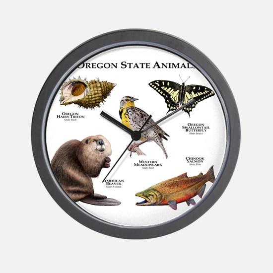 Oregon State Animals Wall Clock