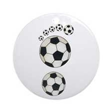 Soccer Ball Footprint Ornament (Round)