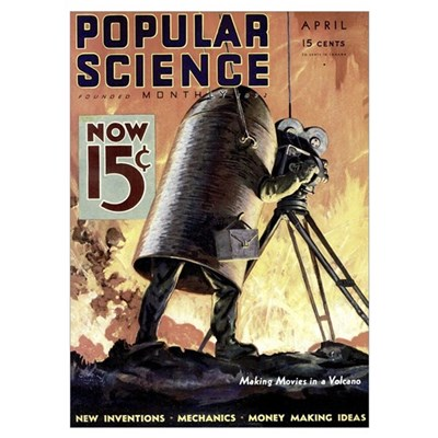 Popular Science Cover, April 1933 Poster