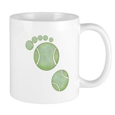 Tennis Ball Footprint Mug