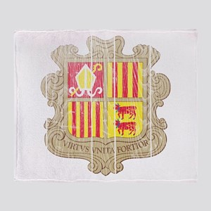 Andorra Coat Of Arms Throw Blanket