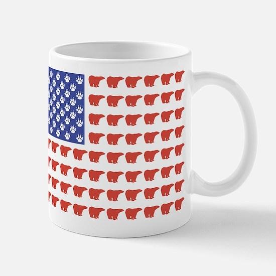 Polar Bear American Flag Mug
