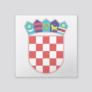"Croatia Hrvatska Emblem Square Sticker 3"" x 3"