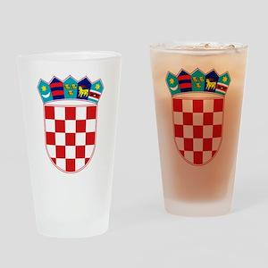 Croatia Hrvatska Emblem Drinking Glass