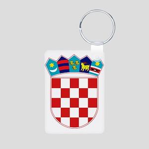 Croatia Hrvatska Emblem Aluminum Photo Keychain
