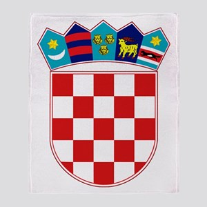 Croatia Hrvatska Emblem Throw Blanket