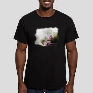 Violet ~Faithfully~ Men's Fitted T-Shirt (dark)