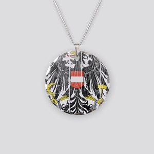 Austria Coat Of Arms Necklace Circle Charm