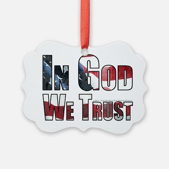 In God We Trust Ornament