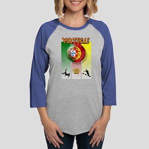 Portugal Football Soccer Womens Baseball Tee