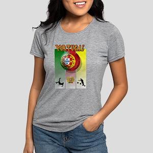 Portugal Football Soccer Womens Tri-blend T-Shirt
