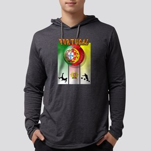Portugal Football Soccer Mens Hooded Shirt