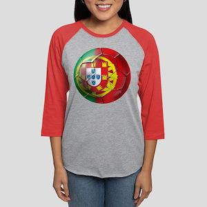 Portuguese Football Soccer Womens Baseball Tee